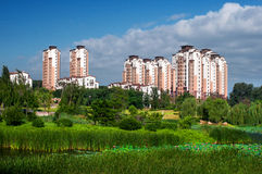 Shenyang Tahiti. Shenyang shen it high-rise buildings in chongqing new north zone (CNNZ), located in Tahiti area style, indoor and outdoor pavilion each have royalty free stock image