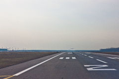 Shenyang Tao Xian airport runway Royalty Free Stock Photography
