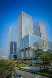 SHENZEN, CHINA - 29 DE JANEIRO DE 2017: Ruas do centro urbano e sorroundings da vizinhança de Nan Shan, mistura espetacular de Imagem de Stock Royalty Free