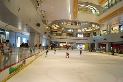 Shenzhen, Κίνα: αίθουσα παγοδρομίας πατινάζ Στοκ Εικόνες