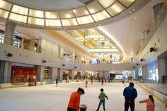Shenzhen, Κίνα: αίθουσα παγοδρομίας πατινάζ Στοκ Φωτογραφία