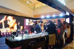 Shenzhen, Κίνα: ασημένιες πωλήσεις κοσμήματος Στοκ φωτογραφίες με δικαίωμα ελεύθερης χρήσης