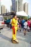 Shenzhen Κίνα: αυτόματος εμφανίστε ακροβατική επίδειξη στοκ εικόνα