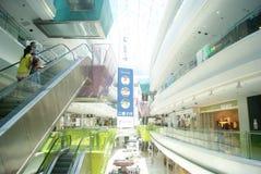 Shenzhen, Κίνα: Β αγορές Plaza πόλεων Στοκ Φωτογραφία