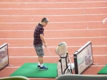 Shenzhen, Κίνα: γκολφ κατάρτισης Στοκ Φωτογραφίες
