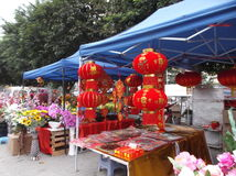Shenzhen, Κίνα: ειδικές αγορές για την αγορά φεστιβάλ ανοίξεων Στοκ εικόνα με δικαίωμα ελεύθερης χρήσης