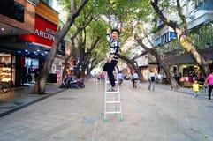 Shenzhen, Κίνα: εμπορική οδός Στοκ φωτογραφία με δικαίωμα ελεύθερης χρήσης