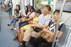 Shenzhen, Κίνα: Η γραμμή 11 μετρό άνοιξε τις διαδικασίες Στοκ φωτογραφίες με δικαίωμα ελεύθερης χρήσης