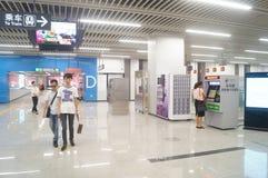 Shenzhen, Κίνα: Η γραμμή 11 μετρό άνοιξε τις διαδικασίες Στοκ φωτογραφία με δικαίωμα ελεύθερης χρήσης