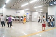 Shenzhen, Κίνα: Η γραμμή 11 μετρό άνοιξε τις διαδικασίες Στοκ Φωτογραφίες