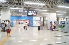 Shenzhen, Κίνα: Η γραμμή 11 μετρό άνοιξε τις διαδικασίες Στοκ Εικόνα