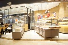 Shenzhen, Κίνα: κατάστημα ψωμιού και κέικ Στοκ Φωτογραφία