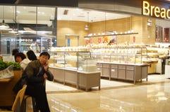 Shenzhen, Κίνα: κατάστημα ψωμιού και κέικ Στοκ εικόνα με δικαίωμα ελεύθερης χρήσης