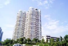 Shenzhen Κίνα: κτήριο πόλεων Στοκ εικόνα με δικαίωμα ελεύθερης χρήσης
