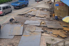 Shenzhen, Κίνα: Οδός επεξεργασίας υλικού Στοκ Φωτογραφία