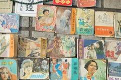 Shenzhen, Κίνα: παλαιά περιοδικά και πωλήσεις βιβλίων στοκ εικόνα