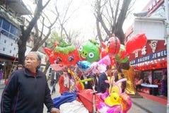Shenzhen, Κίνα: πωλώντας παιχνίδι μπαλονιών Στοκ Φωτογραφίες