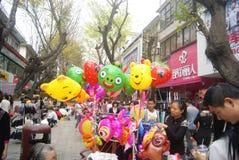 Shenzhen, Κίνα: πωλώντας παιχνίδι μπαλονιών Στοκ Εικόνες