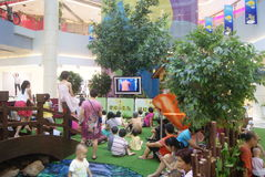 Shenzhen, Κίνα: δραστηριότητες γονέας-παιδιών Στοκ εικόνες με δικαίωμα ελεύθερης χρήσης