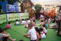 Shenzhen, Κίνα: δραστηριότητες γονέας-παιδιών Στοκ φωτογραφίες με δικαίωμα ελεύθερης χρήσης