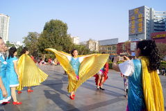Shenzhen, Κίνα: δραστηριότητες πρόληψης ενισχύσεων Στοκ φωτογραφία με δικαίωμα ελεύθερης χρήσης