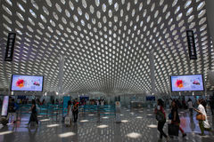 Shenzhen, Κίνα - 11 Σεπτεμβρίου 2016: Διεθνής αερολιμένας Bao'an Στοκ εικόνες με δικαίωμα ελεύθερης χρήσης