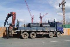 Shenzhen, Κίνα: το εργοτάξιο οικοδομής του γερανού πύργων Στοκ Φωτογραφίες