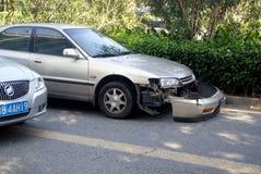 Shenzhen Κίνα: τροχαίο ατύχημα Στοκ Εικόνες