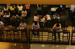 Shenzhen, Κίνα: Υπαλληλικοί εργαζόμενοι πόλεων ελεύθερου χρόνου μουσείων καφέ Στοκ Εικόνες