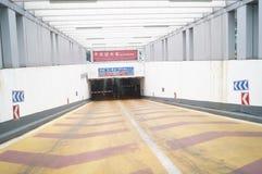 Shenzhen, Κίνα: υπόγειο κανάλι χώρων στάθμευσης Στοκ εικόνες με δικαίωμα ελεύθερης χρήσης