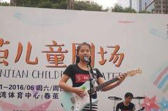 Shenzhen, Κίνα: Φεστιβάλ μουσική ποπ παιδιών Στοκ Εικόνα