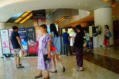 Shenzhen, Κίνα: yitian τετράγωνο αγορών διακοπών Στοκ Εικόνες