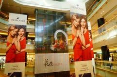 Shenzhen, Κίνα: yitian τετράγωνο αγορών διακοπών Στοκ εικόνες με δικαίωμα ελεύθερης χρήσης