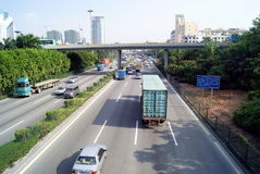 Shenzhen 107 national highway Royalty Free Stock Photo
