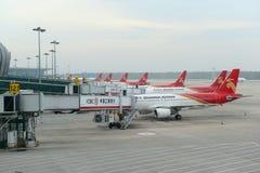 Shenzhen Airlines A320 przy Shenyang lotniskiem, Chiny Obraz Royalty Free