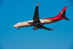 Shenzhen Airlines-vliegtuig Royalty-vrije Stock Foto's