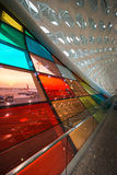 Shenzhen Airport color window Stock Photo