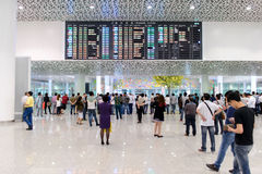 Shenzhen airport interior Royalty Free Stock Images