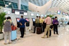 Shenzhen airport interior Royalty Free Stock Image