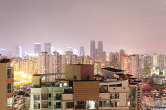 Shenzhen alla notte 3 Fotografie Stock