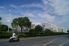 Shenzhen Baoan Avenue and many-storied buildings landscape, in China Royalty Free Stock Image