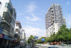 Shenzhen Baoan Avenue and many-storied buildings landscape, in China Royalty Free Stock Images