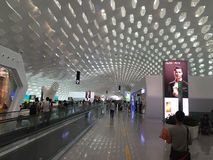 Shenzhen Baoan International Airport affischtavlafolk Royaltyfria Foton