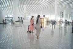 Shenzhen Baoan International Airport, en Chine Photo libre de droits