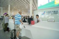 Shenzhen Baoan International Airport, en Chine Images libres de droits