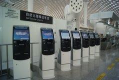Shenzhen Baoan International Airport, en Chine Image stock