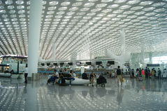 Shenzhen Baoan International Airport, en Chine Photos libres de droits