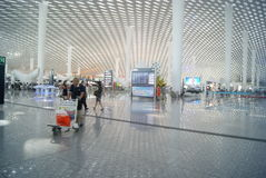 Shenzhen Baoan International Airport, en Chine Photo stock