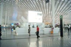 Shenzhen Baoan International Airport, en Chine Photos stock
