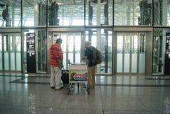 Shenzhen Baoan International Airport, en Chine Photographie stock